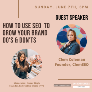 SEO Webinar with SEO Expert ClemSEO and Marketing Professional Nupur Singh